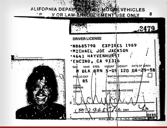 Michael's Old Driver License From 1989