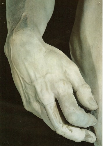 "Michelangelo, ""David"", detail of David's hand"
