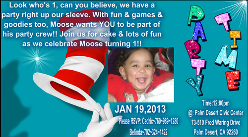 Mooses 1st bday