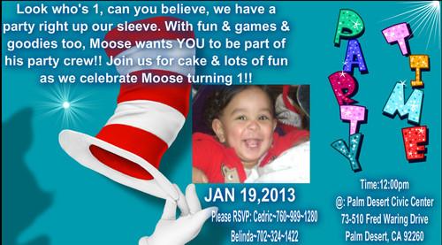 dr. seuss fondo de pantalla called Mooses 1st bday