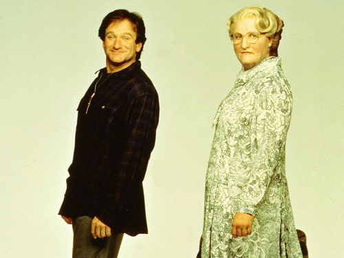 robin williams wallpaper possibly containing a business suit titled Mrs Doubtfire