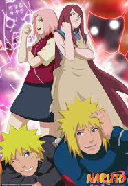 Naruto wallpaper containing anime entitled Naruto, Sakura, Kushina, and Minato