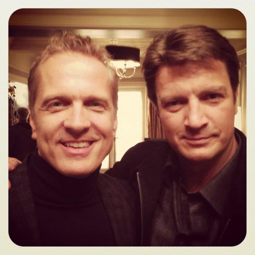 Nathan and Patrick Fabian on castello