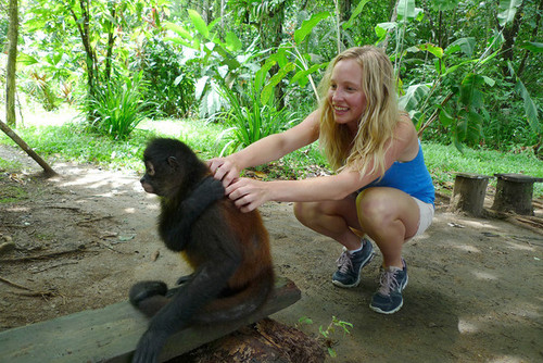 New photo of Candice at the Osa Wildlife Sanctuary in Costa Rica {2012}.