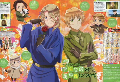 Hetalia kertas dinding possibly with Anime called Official Art Season 5