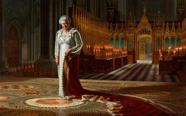 Official Diamond Jubilee portrait of 퀸 Elizabeth II
