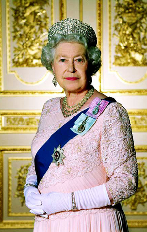 Official Diamond Jubilee portrait of 퀸 Elizabeth II