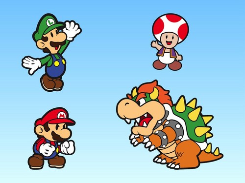 Super Mario Bros. wallpaper possibly containing anime entitled Paper Mario