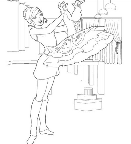 barbie and the pink shoes coloring pages - barbie in the pink shoes images pink shoes coloring pages