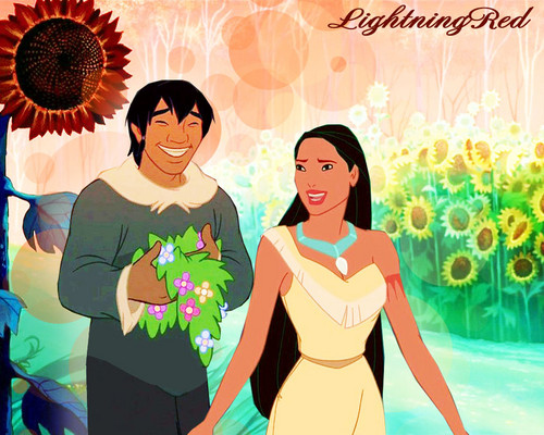 Pocahontas and Denahi at Sunflower Field