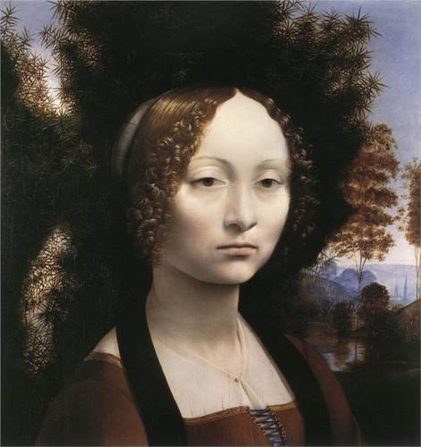 Portrait of Ginevra Benci por Leonardo, c.1474