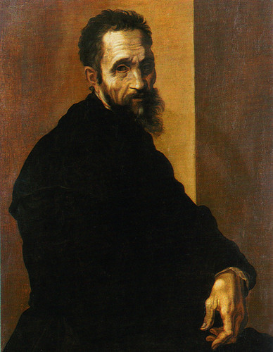 Portrait of Michelangelo 의해 Jacopino del Conte (after 1535) at the age of 60