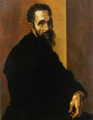 Portrait of Michelangelo by Jacopino del Conte (after 1535) at the age of 60