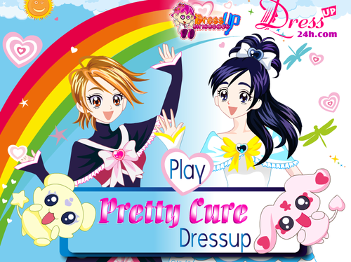 pretty cure achtergrond containing anime called Pretty Cure Dress up Game