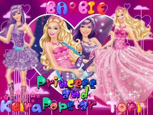 Barbie the Princess and the popstar wallpaper entitled Princess and Popstar