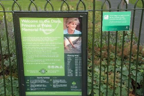 Princess of Wales Memorial فاؤنٹین, چشمہ