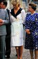 퀸 Elizabeth Princess Diana Prince Charles 08-04-1987