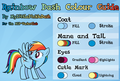 Rainbow Dash Color Guide