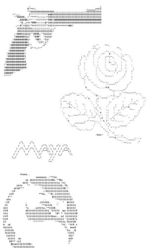aleatório ASCII from http://www.innovateus.net/science/what-ascii-art