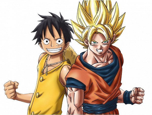 Anime multiverse images rufy and goku wallpaper and - Dragon ball one piece ...