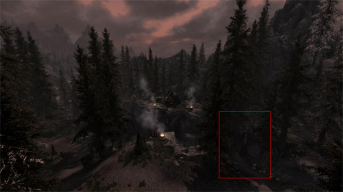 The Slender Man wallpaper probably containing a ponderosa, a mountain hemlock, and a douglas fir titled SLENDER IN SKYRIM?!