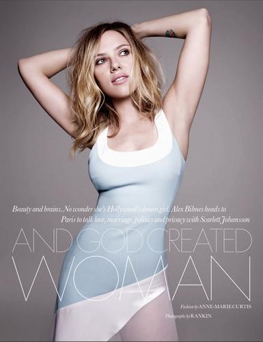 Scarlett Johansson for Elle UK