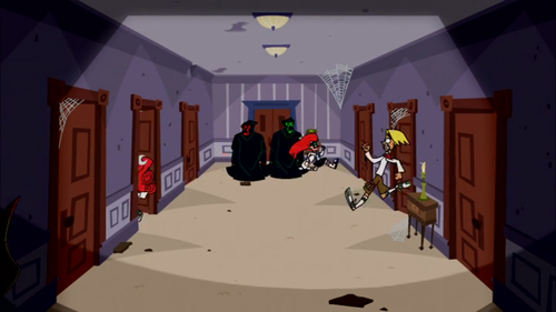 Johnny Test wallpaper with a living room, a den, and a parlor called Scooby-Doo Doors