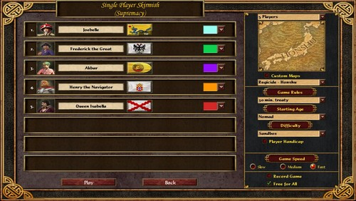 Screenshot for Age of Empires III: The Asian Dynasties