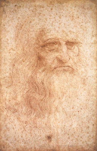 Da Vinci Self-portrait in red chalk Circa 1512 to 1515