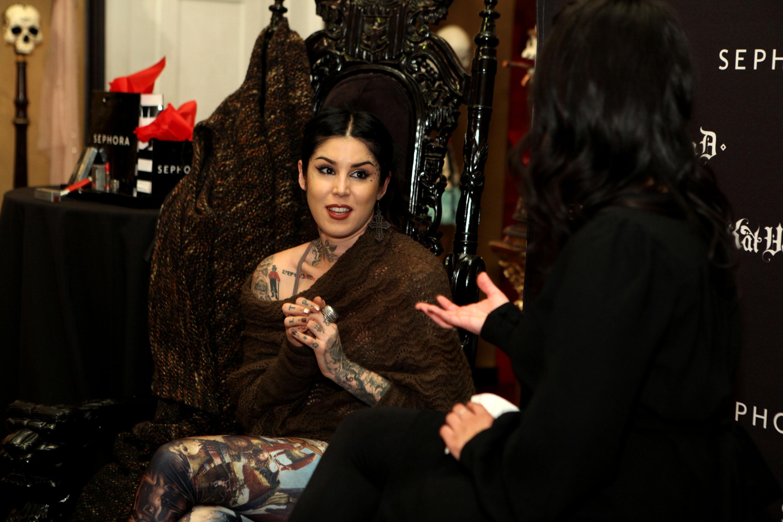 Sephora VIB Holiday cocktail Party Hosted da Kat Von D at Kat Von D's Wonderland Gallery