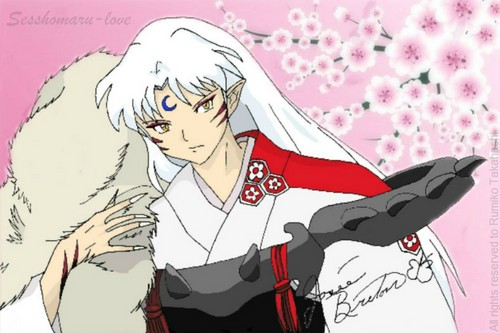 Sesshomaru with rose couleurs