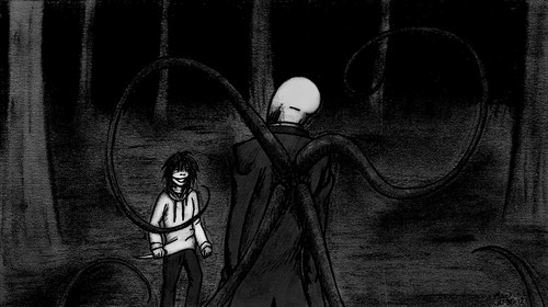 The Slender Man images Slender Man vs Jeff the Killer  HD wallpaper and background photos