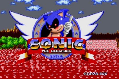 Sonic.exe judul Screen
