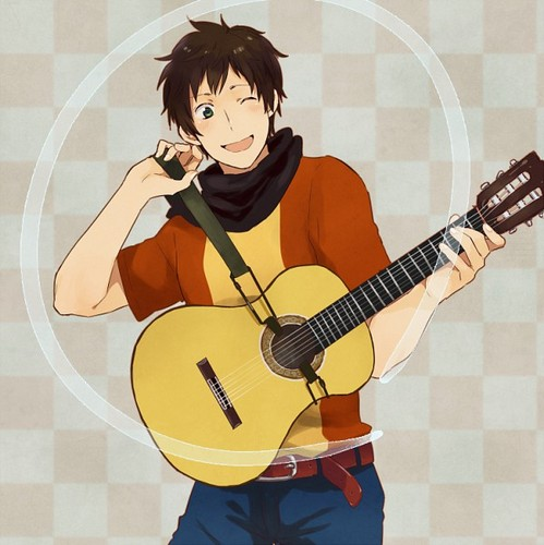 Hetalia Spain fond d'écran probably with an acoustic guitare entitled Spain~