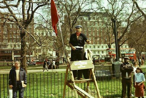 Speaker's Corner, Hyde Park, London 1979