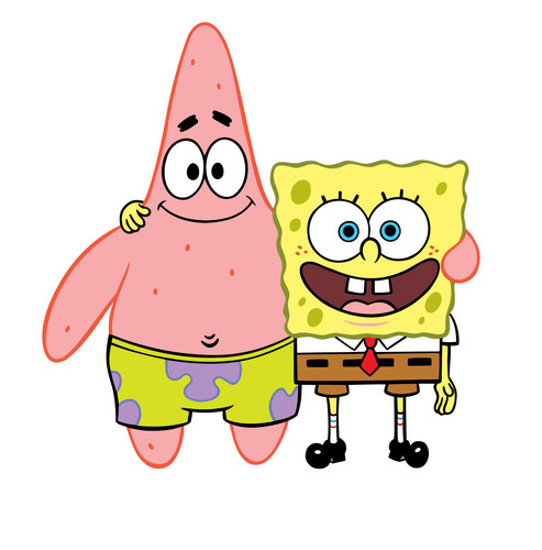 Spongebob Squarepants kertas dinding called Spongebob & Patrick