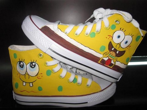 Spongebob Squarepants customize shoes