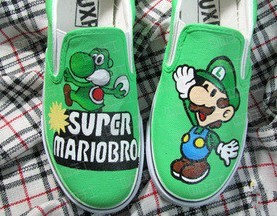 Super Mariobros customized shoes