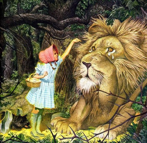 Fairy Tales & Fables karatasi la kupamba ukuta possibly with a lion entitled THE WİZARD OF OZ