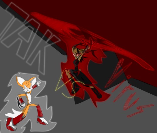 Sonic Fan Characters wallpaper with anime titled Tak VS Virus