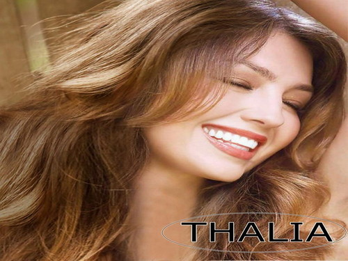 Thalia wallpaper containing a portrait titled Thalia