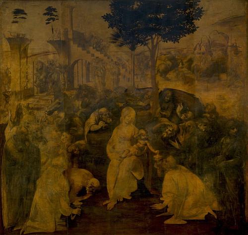 Leonardo's The Adoration of the Magi, (1481)