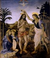 The Baptism of Christ (1472–1475) by Verrocchio and Leonardo - michelangelo-vs-leonardo-da-vinci photo