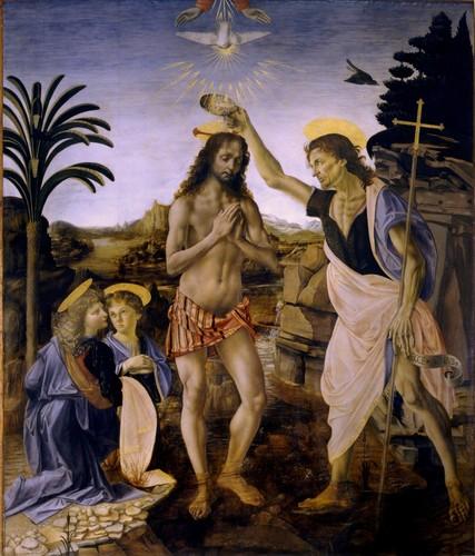 The Baptism of Christ (1472–1475) Von Verrocchio and Leonardo