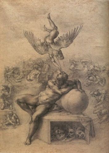 The Dream of Human Life by Michelangelo, c.1533