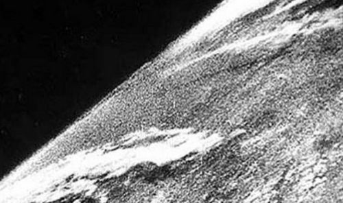 The First Picture Ever Taken in Space