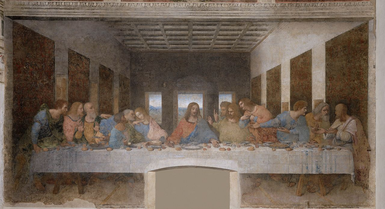 The Last Supper-Leonardo's most famous painting of the 1490s