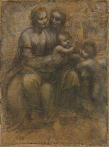 The Virgin and Child with St. Anne and St. John the Baptist par Da Vinci (c. 1499–1500)