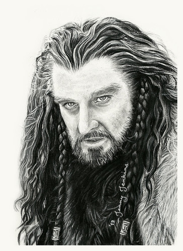 Thorin Oakenshield pencil drawing
