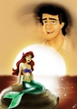 Walt Disney Fan Art - Prince Eric & Princess Ariel - walt-disney-characters fan art